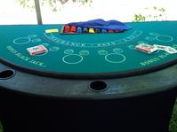 Blackjack tables, craps tables, roulette, pai gow, texas hold em, casino theme parties, casino party rentals, casino nights poker